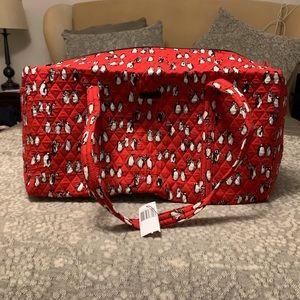 VERA BRADLEY NWT Large red penguin duffel bag
